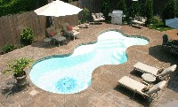Desert Springs Fiberglass Pool and Spa in Combined Locks, WI