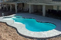 Desert Springs Fiberglass Pool and Spa in Green Valley, WI